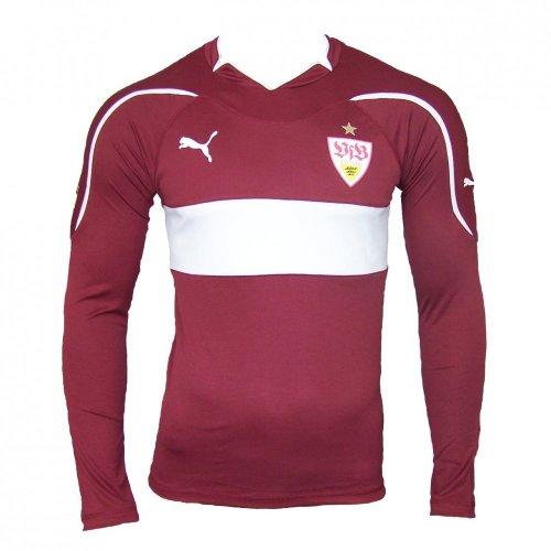 Puma Away VFB Stuttgart Langarm Shirt ohne Werbung 2010 - 2011, Größe:S