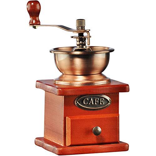 Antik Look Kaffeemühle Espressomühle Kaffee Holz Retro Mühle Keramik Mahlwerk
