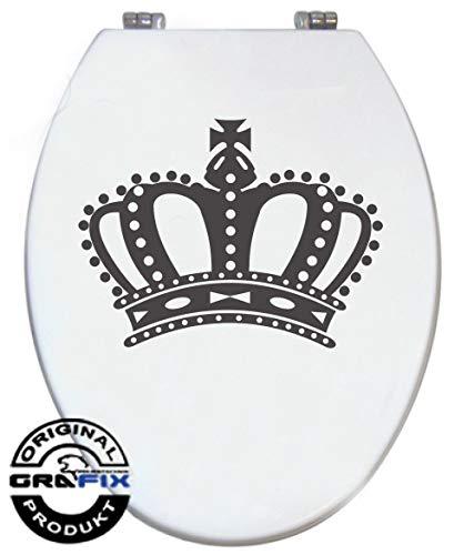 Stickers antraciet kroon voor Pressalit toiletdeksel