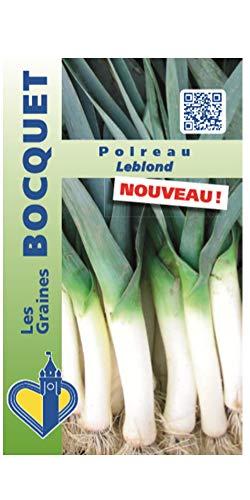 Les Graines Bocquet- Graines de Poireau Leblond- Graines potagères à semer- Sachet de 1Gr.