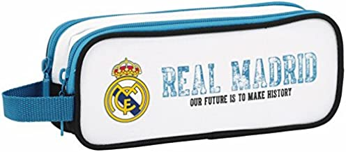 Real Madrid - Estuche portatodo Doble, equipación 2017/2018 (SAFTA 811754513)