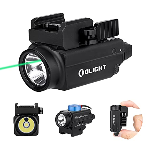 OLIGHT Baldr S 800 Lumens Compact Rail Mount Weaponlight with Green Beam and White LED Combo, Magnetic USB Rechargeable Tactical Flashlight with 1913 or GL Rail, Battery Included (Black)