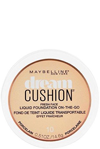 Maybelline New York Dream Cushion Fresh Face Liquid Foundation, Porcelain, 0.51 Ounce