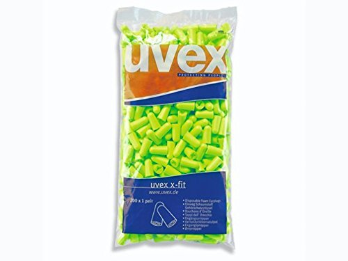uvex Gehörschutzstöpsel x-fit lime Nachfüllbeutel mit 200 Paar