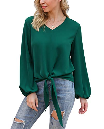 LARACE Womens Swing Tunic Tops Loose Fit Comfy Flattering T Shirt(1X, Dark Green)