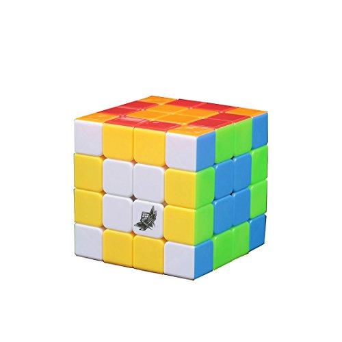 EasyGame Cyclone Boys Cubo mágico de 6 Colores Cubo de Velocidad de Rompecabezas 4x4