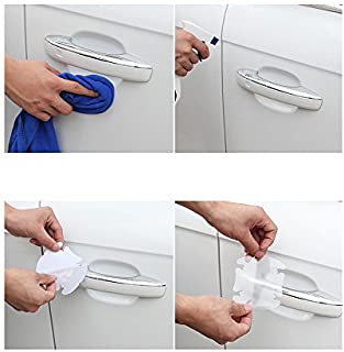 Younglingn 12 Pcs Universal Transparent Invisible Car Door Handle Scratches Protective Films Clear Side Sticker Scratches Car Door Protector Films