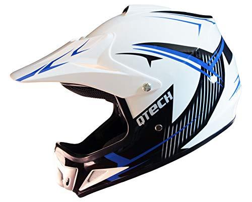 Casco Motocross per Bambino Moto Cross Enduro ATV MX BMX Quad Nero Opaco Rosso 51-52cm XS