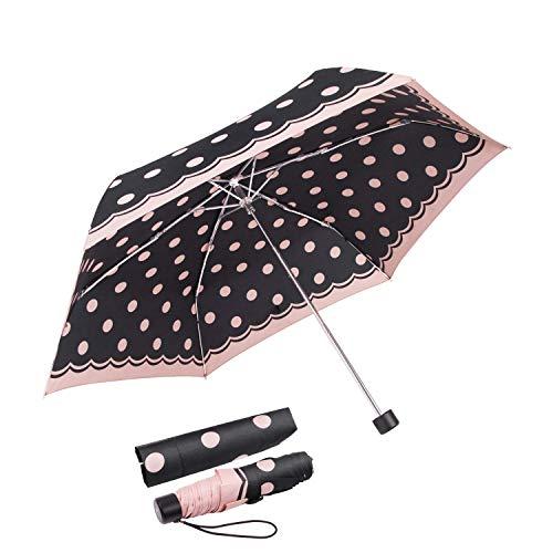 Regenschirm boy ® Taschenschirm Reise Schirm, Extrem Leicht, klein & kompakt Für Mädchen und Jungen, 177g (Rosa)