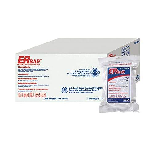 ER Emergency Ration 3600 Calorie Food Bar for Survival Kits and Disaster Preparedness, Single Bar, 1B, White 3