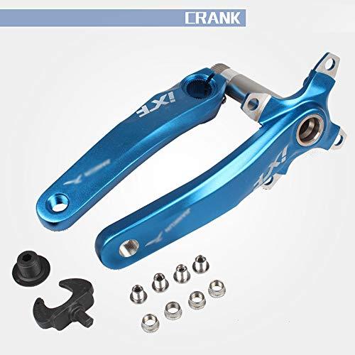 DZGN Vélo manivelle Convient pour pédalier VTT vélo BMX avec la Largeur de Fil de 68-73mm (pédaliers Uniquement),Bleu
