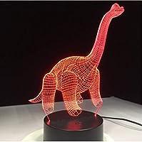 3D LED錯視ランプ 恐竜ノベルティ動物カラフルな雰囲気タッチセンサーナイトライトアクリル彫刻図クリエイティブギフト