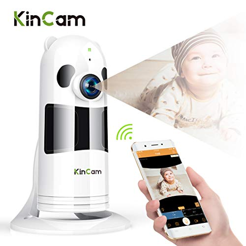 Kincam Telecamera di Sicurezza Domestica WiFi Wireless IP Camera di Sorveglianza 1080P HD Visione Notturna a Infrarossi Audio Bidirezionale con Sensore di Movimento Registrazione del Ciclo