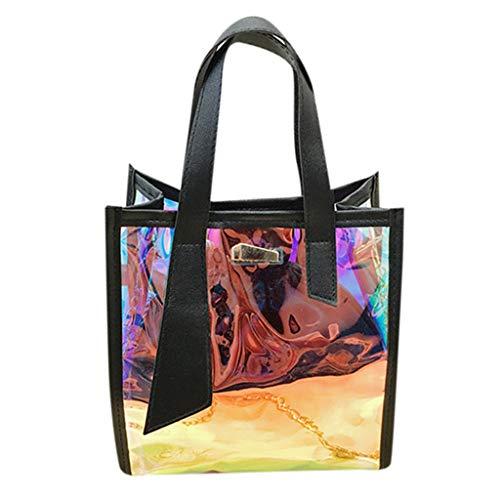 Clacce Damen Handtasche Kette Umhängetasche Retro Handtasche Shopper Tote Henkeltasche Tote-Tasche Handbag Freizeit Büro Messenger Bag