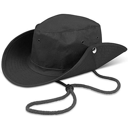 Sombreros de Pesca, Gorro de Pesca Plegable Sombrero para el Sol de Secado Rápido Hat para Pesca Safari, Canotaje, Caza, Senderismo, Acampada (Negro)