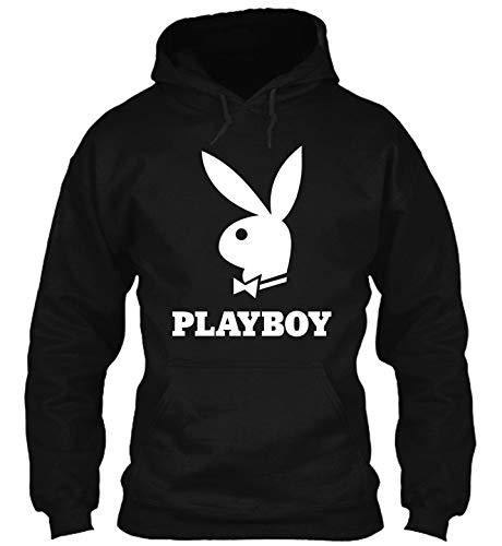 Rare Black Playboy Bunny Big Logo hdb 12 T-Shirt - Hoodie - Crewneck Sweatshirt