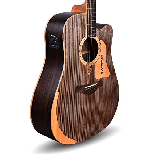 """Kadence Acoustica Series 41"""" Acoustic Guitar Solid Wood A1001 With Fishman Equalizer"""