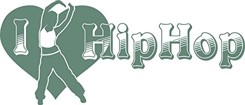GRAZDesign Tanzen Geschenk I Love Hip Hop - Wandtattoo Jugendliche Tänzerin - Wandtattoo Kinderzimmer Mädchen Jungen Sexy und Coole Aufkleber / 134x57cm / 840 Pastel Turquoise