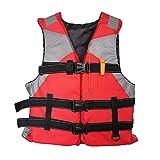 Daodan Giubbotto Salvagente Adulto Giubotto Salvataggio Regolabile Gilet di Sicurezza Ad Alta Galleggiabilità Gilet da Paddle Universale (60-75kg) per Canottaggio Kayak Nuoto,L (Rosso)