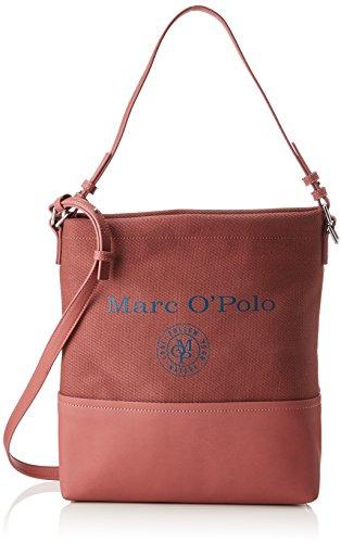 Marc O'Polo Damen Hobo Schultertasche, Pink (Dusty Pink), 13x34x37 cm