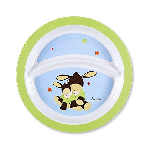 Sterntaler Assiette Bébé, Emmi l'âne, Âge: Pour les bébés à partir de 6 mois, Bleu/Vert