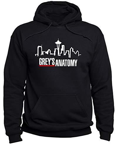 EUGINE DREAM Grey's Anatomy Logo Greys Anatomy Sweater Unisex Kapuzenpullover Schwarz L