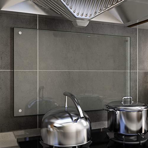 Tidyard Paraschizzi per Cucina Trasparente 80x50 cm in Vetro Temperato