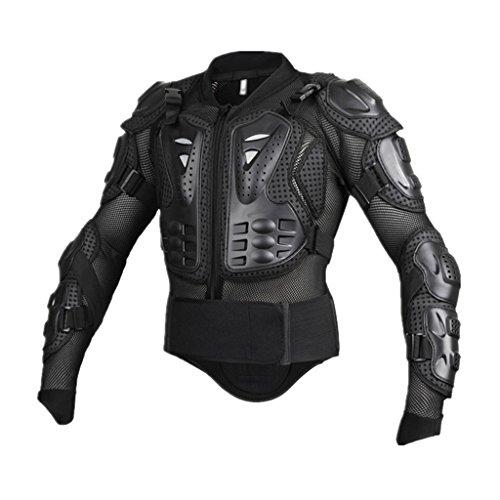 MagiDeal MTB BMX Vélo Motocross Équipement de Protection Complet du Corps Protecteur Veste Armure Léger Résistant - L