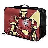 Iron Man - Caja de almacenamiento para equipaje con bolsa de viaje para llevar durante la noche