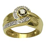 Anillo de oro con diamante 'Bicolor' (oro amarillo 585) – Anillo de diamante – con valor experto