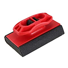Shaped to sand corners, curves, and flat surfaces Dimpled rubber surface to adjust for surface imperfections Easy-to-grip handle Easy to load with standard sandpaper