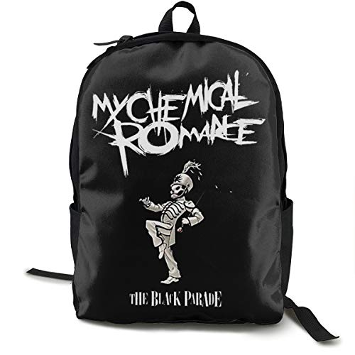 N / A My Chemical Romance Classic Backpack Schoolbag Black Bag Polyester Unisex School Work Travel