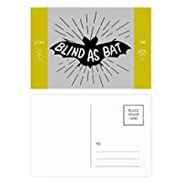 ブラックバットの動物のシルエットのナチュラル 友人のポストカードセットサンクスカード郵送側20個
