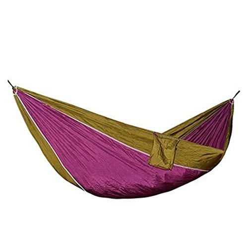 QXYOGO Hamaca Material de Nylon Hamaca Seguridad Durable Adulto para Interior Outdoor Colgando Dormir Softable Soft Bed Hamacas Colgantes (Color : Camelpurple)