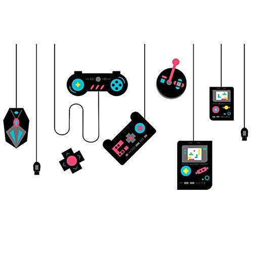 Colorato Gamer Controller Wall Stickers Ragazzo Game Wall Decor, Decalcomania di gioco rimovibile e Arte Decor per Soggiorno/Camera da letto/Cucina/Sala da pranzo
