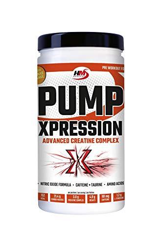 HMSelection Pump Xpression - integratore energetico a base di aminoacidi, creatina, vitamine, minerali e caffeina - ideale per aumentare l'energia, forza e massa muscolare (ananas-arancia, 800g)
