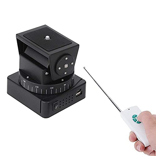 Mcoplus YT-260 Video Motorized Pan Head,Remote Control Motorized Pan Tilt Head for Phones, WiFi Camera, Wireless Lens, Action Cameras,Mirrorless Cameras (Limited Weight Under 260g)