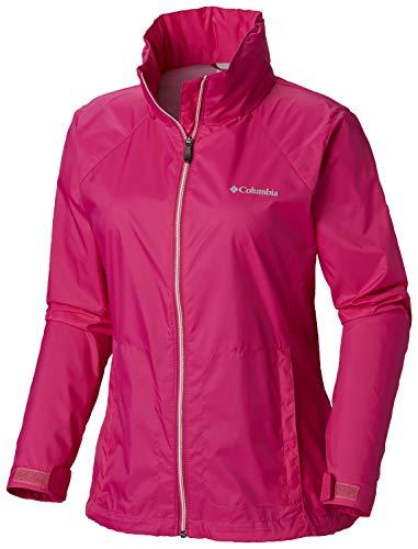 Columbia Women's Switchback III Adjustable Waterproof Rain Jacket, Haute Pink, Medium