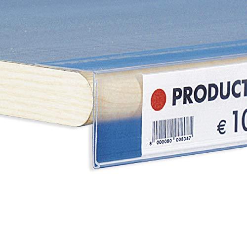 10 perfiles portaprecios adhesivos plegados a 90° – 100 x 3,8 h cm