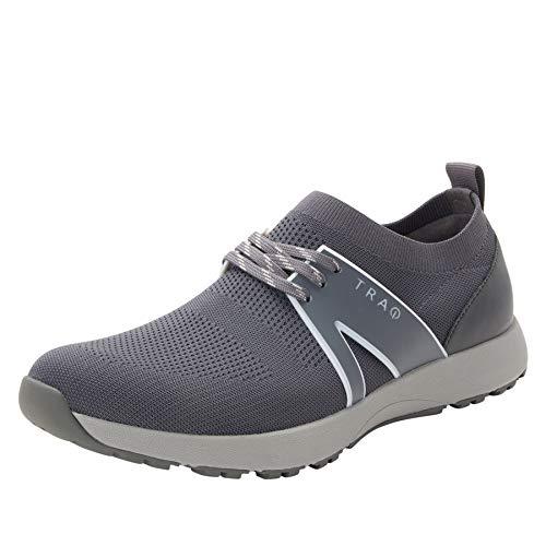 TRAQ BY ALEGRIA Qool Mens Smart Walking Shoe Charcoal 11 M US