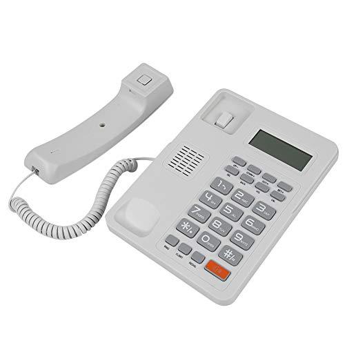 Fockety Función de rellamada Función de Flash Teléfonos fijos de Escritorio Fijo, teléfono con Cable, para Oficina en casa