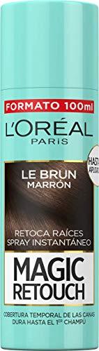L'Oréal Paris Magic Retouch Spray Retoca Raíces, castaño oscuro, 100 ml