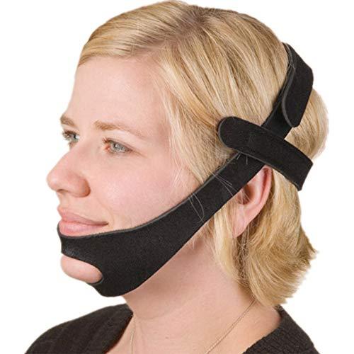 Amylovern Kinnriemen T-förmiger Schnarchgürtel Kinnriemen Verstellbarer Schnarchstopp Lösung für Männer und Frauen, Anti-Schnarch-Geräte Schnarchstopper Kinnriemen Schlaf AIDS (No hemming)