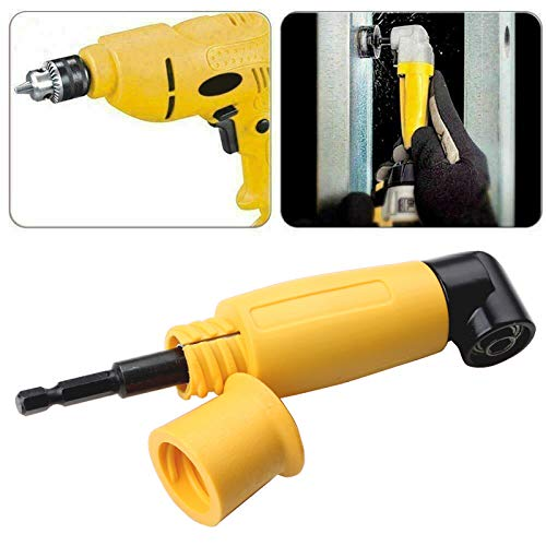 Nigun 90 Degrees Right Angle Extension Screwdriver Drill Attachment Right-Angle Drills Extension Shank