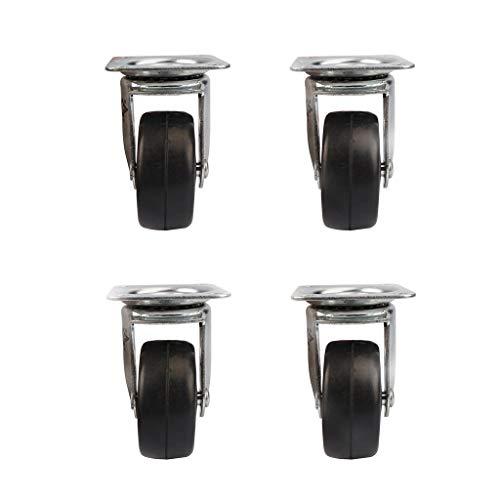 ZHAOHUIYING 2-inch Harde Rubber Wiel Plus Kast Toolbox Trolley Castor Wheel Caster Wheel Mute 4 stks