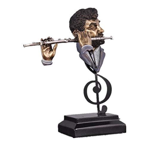 QMZZN Dekoration Statuen Skulptur Skulptur Deko Flötenspieler Figur Harz Musik Band Statue Ornament Einrichtung Für Heimtextilien Und Geschenke