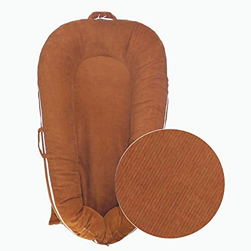 NoomiNest Baby Lounger Extra Cover for DockATot Deluxe (Rust Brown)
