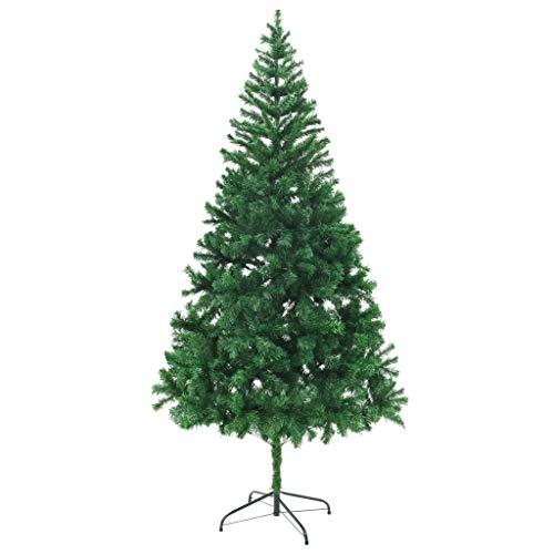 Cikonielf Albero di Natale Artificiale 210 cm Albero di Natale Artificiale Riutilizzato con Supporto per Natalizie Decorazioni da Interno e Esterno