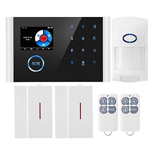 3.9 x 6.3 x 0.5 Pulgadas Sistema de Alarma antirrobo de Oficina inalámbrico, Alarma de Anillo Seguro Abs, Hotel para Oficina en casa