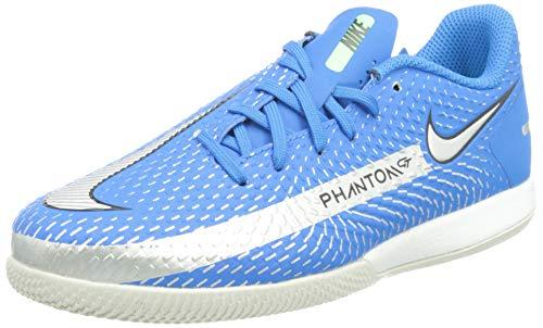 Nike JR Phantom GT Academy IC, Scarpe da Calcio, Photo Blue/Mtlc Silver-Rage Green-Black, 33 EU